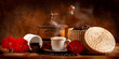 Fototapeta śniadanie - Kapucynka - Kawa / Herbata / Czekolada