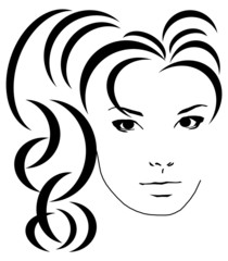 Frau mit moderner Frisur