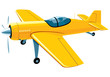 Vector isolated flying sport airplane