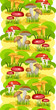 seamless background Mushroom Glade