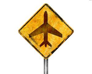 Señal amarilla aviones