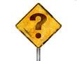 Señal amarilla pregunta