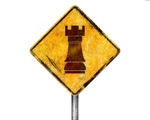 Señal amarilla torre