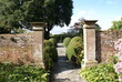 entrance and topiary