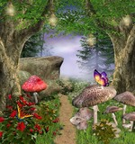 Fototapety Enchanted nature series - enchanted pathway