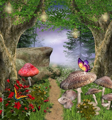 Enchanted nature series - enchanted pathway - 42492128