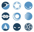 Business Abstract Circle Icon. Corporate, Media styles.