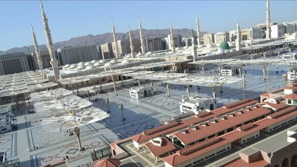 Prophet's Mosque in Medina afternoon time lapse