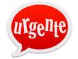 """Balão de fala - palavra """"urgente"""""""