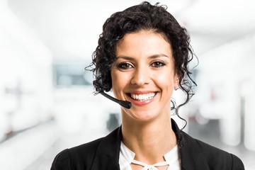 Beautiful customer representative portrait