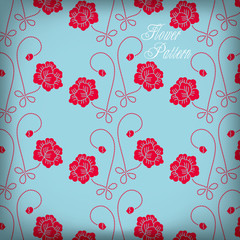 Vector illustration: beautiful Seamless color rose pattern backg