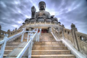 HDR Image of Tian Tan Buddha, Lantau Island, Hong Kong
