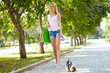 Strolling with dog