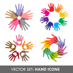 Collection of vector hand  icons for your business artwork