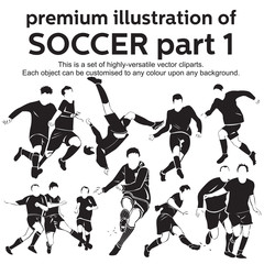 Premium Illustration Soccer Part 1