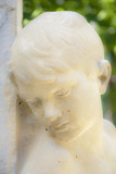 Orphan statue, Retiro Park, Madrid, Spain poster
