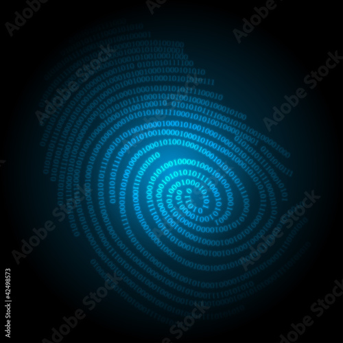 blue technology background, vector illustration eps10