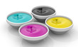 CMYK liquid inks with drops