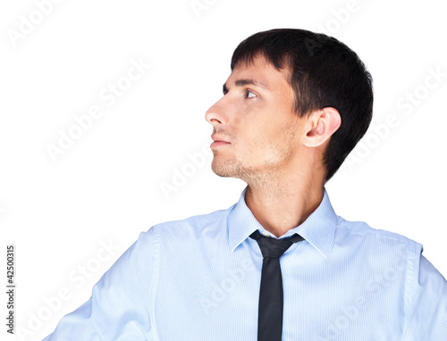 Portrait of relaxed business man against white background. Daydr
