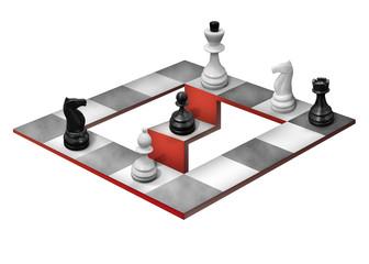 Шахматная оптическая иллюзия на белом фоне