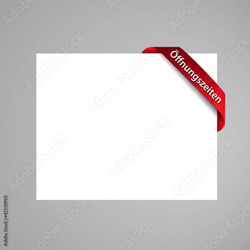 öffnungszeiten web banner, rot