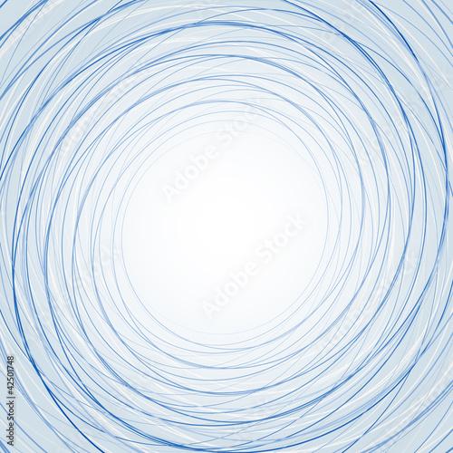 Абстрактный фон с тонкими синими кругами
