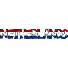 Netherlands Flag Text