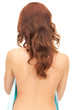woman with long hair from the back