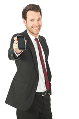 business mann mit handy