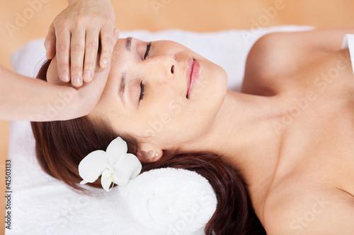 Fototapeten,frau,massage,kopf,gesicht