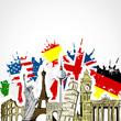 Monuments drapeaux