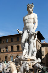 Statue of Neptune on Piazza della Signoria in Florence