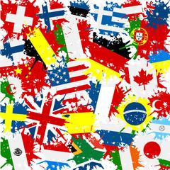 Fond drapeaux monde