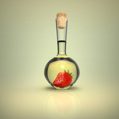 Bottle with Strawberry