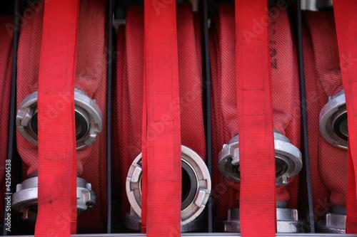 Leinwanddruck Bild Feuerwehrschlauch
