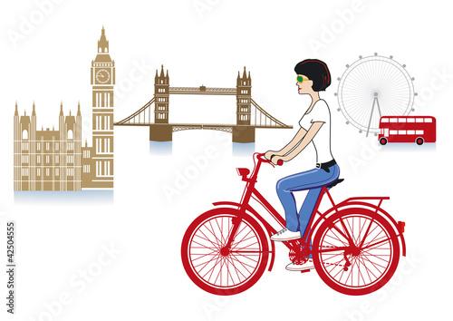 London auf den Fahrrad