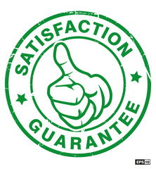 stempel daumen hoch satisfaction guarantee