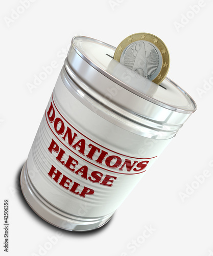 Donation Tin Can