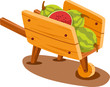 cart with watermelon