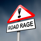 Road rage concept. poster