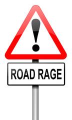 Road rage concept.