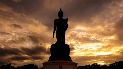 Big Buddha in Thailand,Timelapse