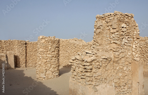 Remains of pillars inside ancient Saar temple