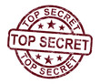 Top Secret Stamp Shows Classified Private Correspondence