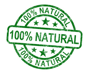 100% Natural Stamp Shows Pure Genuine Product