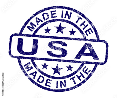 Made In Usa Stamp Shows Product Or Produce Of America