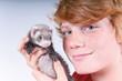 Junges Frettchen als Haustier