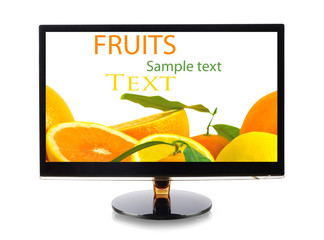 Fruits in monitor