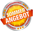"Button Banner Sonne ""Sommerangebot"" gelb/orange/silber"
