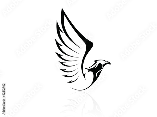 Hawk,Falcon,Eagle - vector, logo, sign, icon